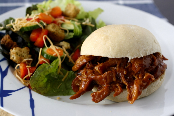 Slow Cooker Honey Barbecue Chicken Sandwiches Recipe