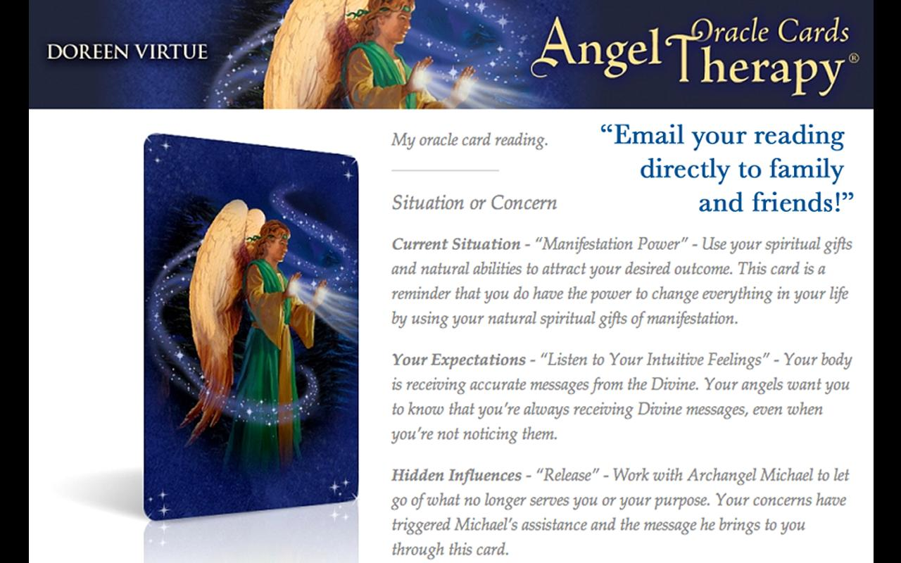 Angel Therapy Oracle Cards- screenshot