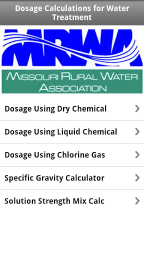 Dosage Calc - Water Treatment