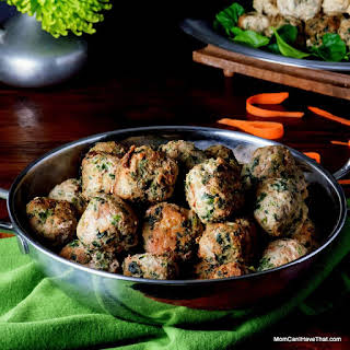 Curried Spinach Turkey Meatballs.