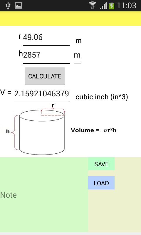 Tube Volume Calculator Ad Free Android Apps On Google Play