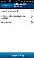 Screenshot of CanalBlog Mobile