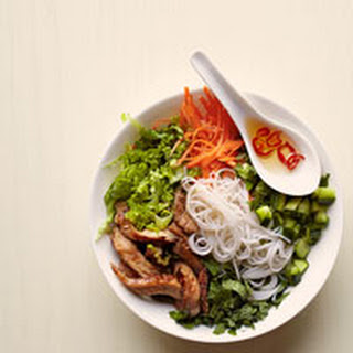 Vietnamese Noodle Bowl with Glazed Pork.
