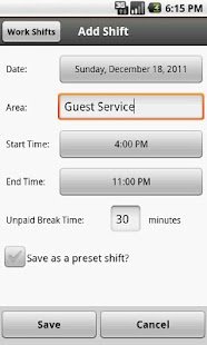 Work Shifts Free - screenshot thumbnail