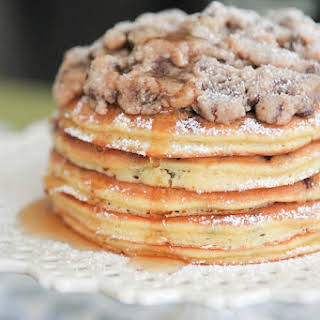 """Chocolate Chip Pan """"Cakes"""" with Cookie Dough Crumble."""