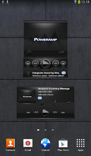 Poweramp widget BLACK Black