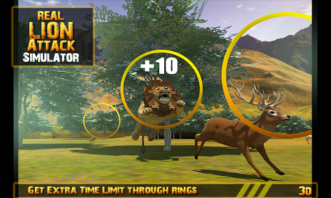 Real Lion Attack Simulator 3D - screenshot