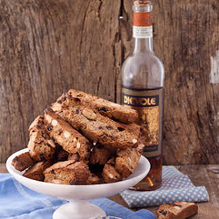 Chestnut Flour And Chocolate Drops Biscotti.