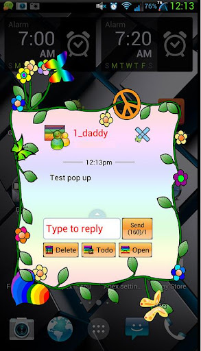 GO SMS Peace Love Bohemian