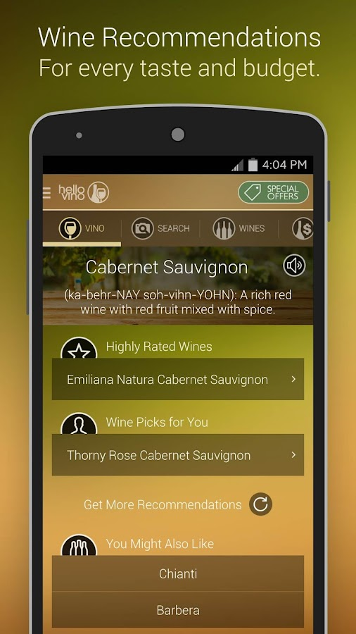 Hello Vino - Wine Guide- screenshot