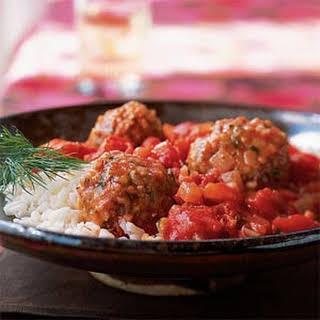 Bulgur and Lamb Meatballs in Tomato Sauce.