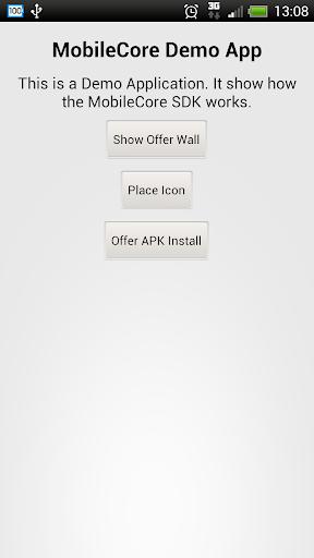 MobileCore Demo App