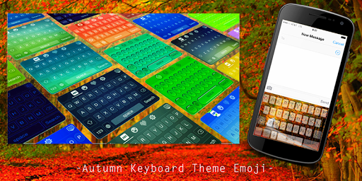 Autumn Keyboard Theme Emoji