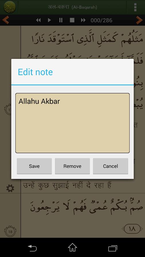Quran Hindi (हिन्दी कुरान) - screenshot