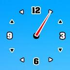 BlackWhite Clock Transparent