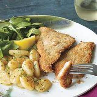 Veal or Pork Cutlets, Brown Butter Gnocchi and Dark Greens.