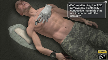 Screenshot of Medrills: Army AED