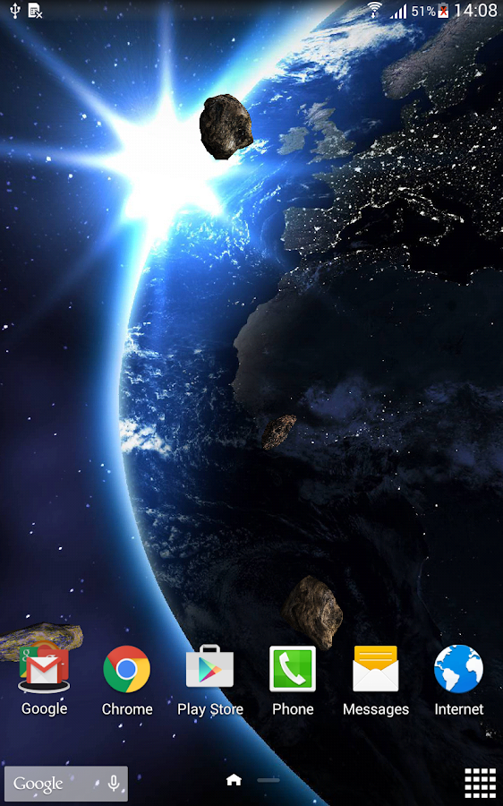 HD Space Live Wallpaper- screenshot