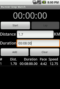 Runner Stop Watch - screenshot thumbnail