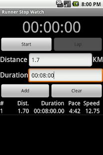 Runner Stop Watch- screenshot thumbnail