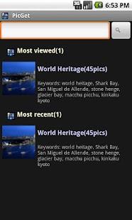 PicGet(Wallpaper Search)- screenshot thumbnail