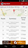 Screenshot of TTC Toronto Transit Live