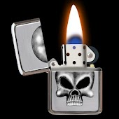 Skull Lighter Fire Wallpaper