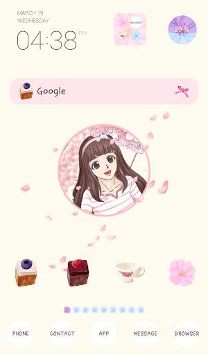 to girl flower rain dodol