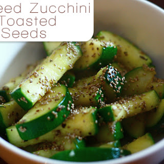 Sauteed Zucchini with Toasted Chia Seeds
