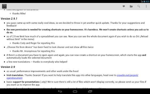 OpenDocument Reader