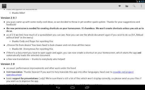 OpenDocument Reader- screenshot thumbnail
