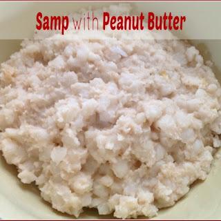 Manhuchu anedovi (Samp with Peanut Butter).
