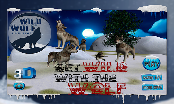 Wild Wolf Simulator 3D - screenshot