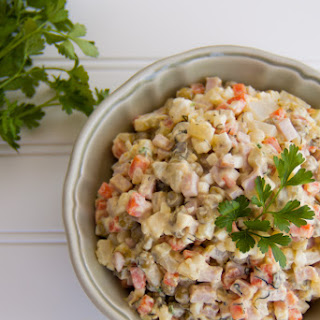 Olivye - Ukrainian Potato Salad - Оливье