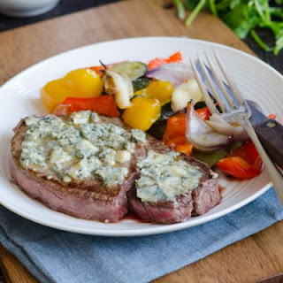 Grilled Flank Steak With A Blue Cheese Crust