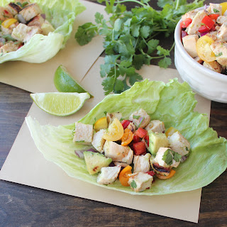 Chili Lime Chicken Taco Lettuce Cups.