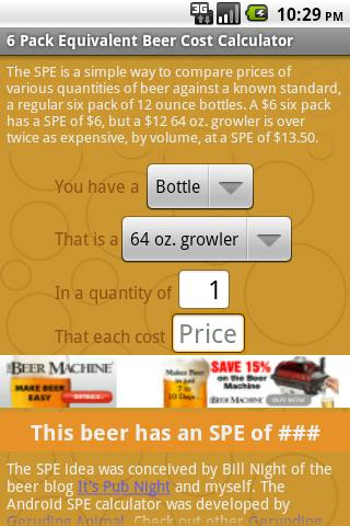 Beer Cost Calculator- screenshot