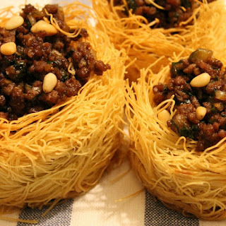 Kataifi Nests with Mauritanian Ground Lamb