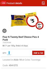 Coles App - screenshot thumbnail
