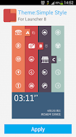Screenshot of Launcher 8 theme:Simple Style