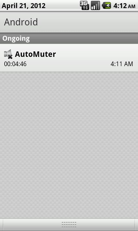 AutoMuter- screenshot