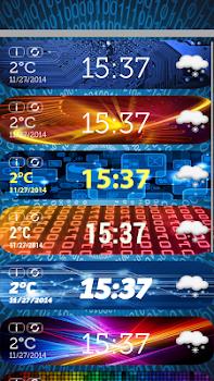 Digital Clock Weather Widget