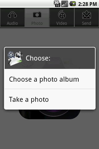 Audio, Photo, Video to E-Mail- screenshot
