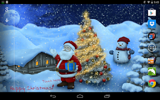 Screenshot of Christmas Live Wallpaper Pro