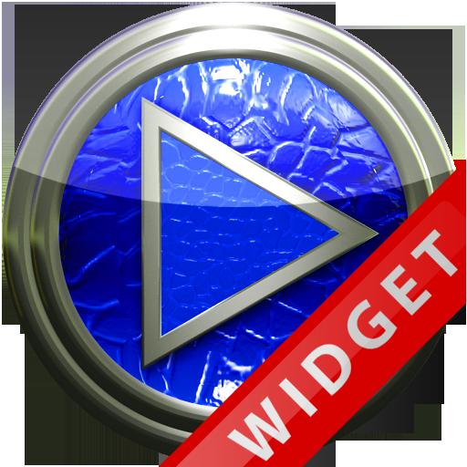 Poweramp Widget Blue Leather