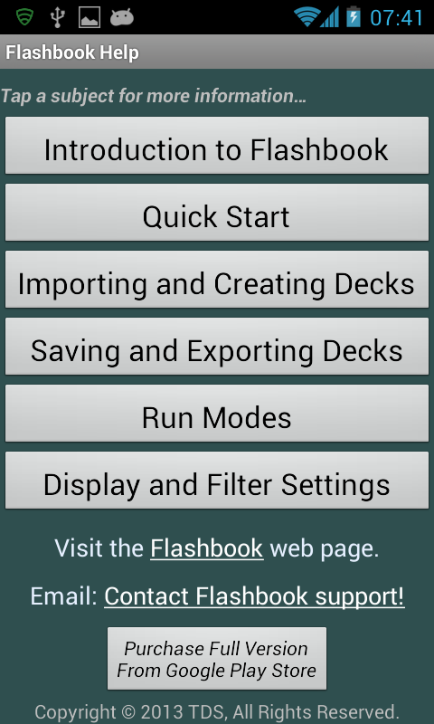 Flashbook Flashcards- screenshot
