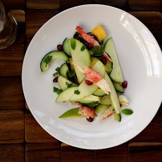 Crab, Apple & Pomegranate Salad.