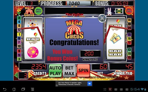 Circus slot machine