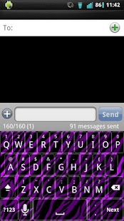 Purple Zebra Keyboard Skin- screenshot thumbnail