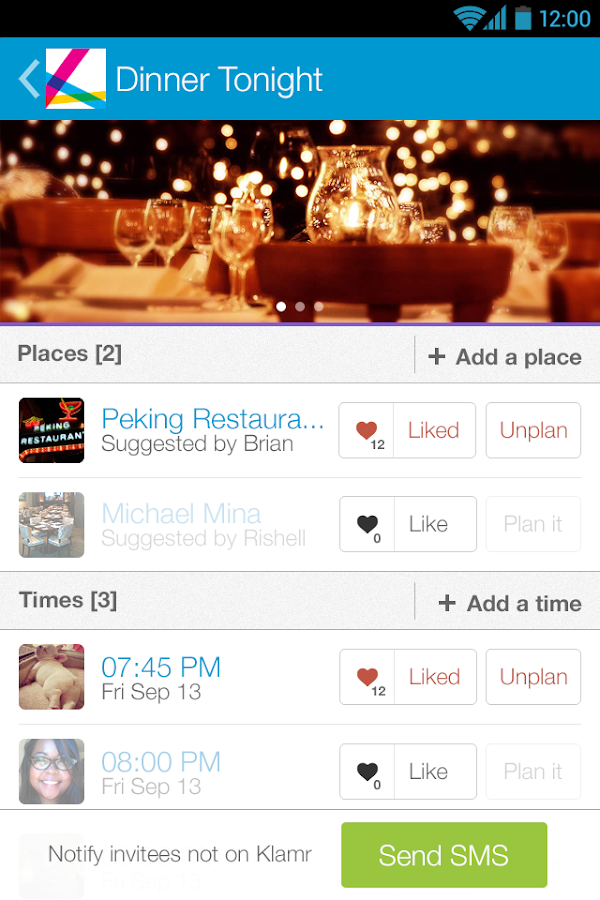 Klamr - Chat, Hangout, Share - screenshot